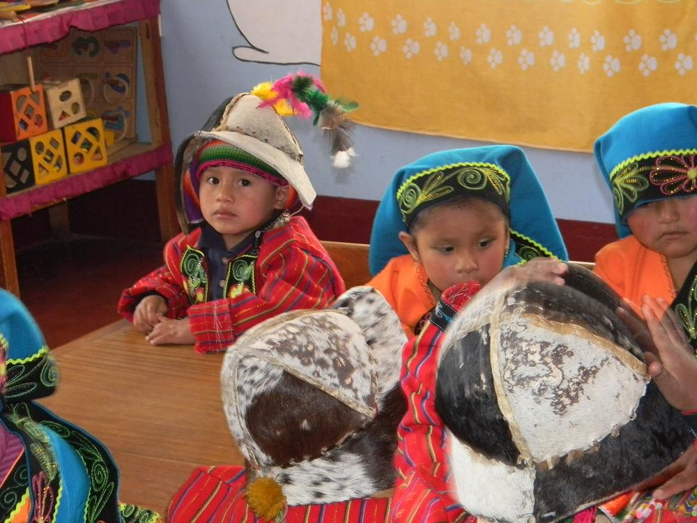 Children in regional costume