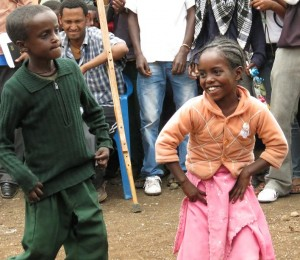 CFTC Sponsored children in Chancho dancing up a storm
