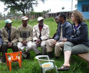 Heather listens to an Early Childhood Centre management committee in Woliso.