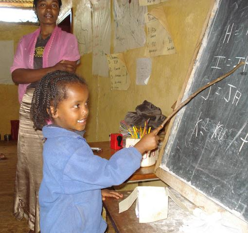 ethiopian girl at bboard