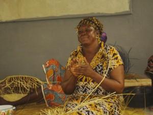 Bolga basket weaver