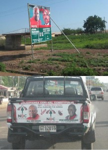 political signs in Ghana