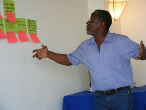 Theory of Change participant hard at work.