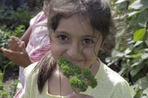Girl with parsley