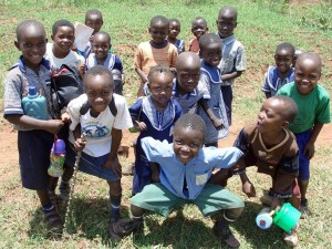 Ugandan children ham it up for the camera!