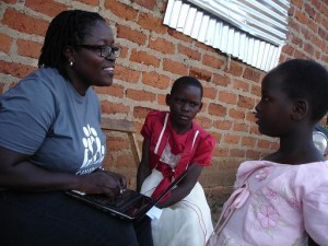 Evelyne and Emily share their stories with Amboka Wameyo.