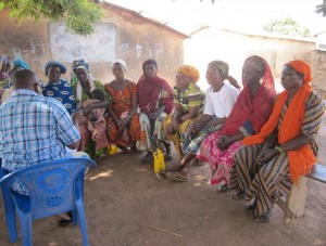 Women's focus group discusses their unique challenges and achievements as part of the project's  end-line study.