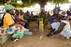 Radio listening groups bring timely information about weather, market prices and climate-smart agriculture to farmers.