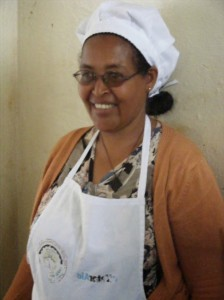 "Kelema Haile, manager of the biogas restaurant. ""This is the work where I discovered myself for the first time."""