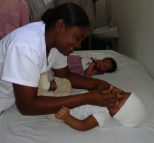 Medical staff have been hired and trained for the new maternity ward at the OMES clinic in Thor, Haiti.