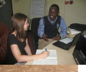 Augustine N-Yokun at work in the Ghana office.