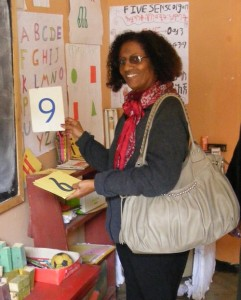 Mulu Haile visits an MCDP-supported Early Childhood Education Centre.