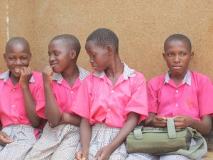 HUYSLINCI students at St Kizito Primary school