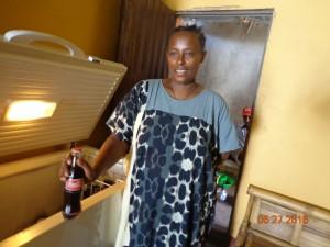 Woinshet Tefera selling soft drinks