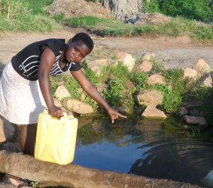 Ripple Effect: Joan at the well. World Water Day 2018. Nature for Water #NatureForWater #WWD2018 #WorldWaterDay