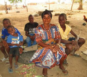 Farmer collective: Madam Akasele with her sons