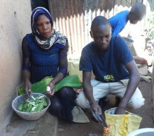 Abdallah helps Aisha make dinner