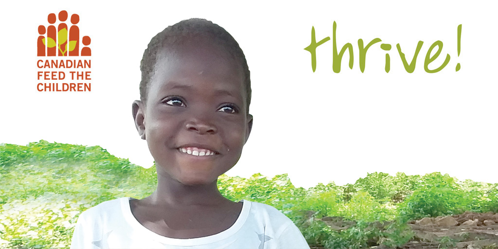 thrive magazine cover featuring smiling African girl