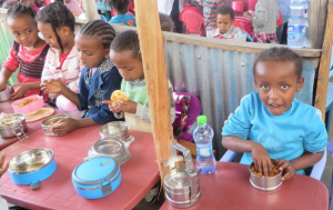 school meal at Ethiopian ECCE