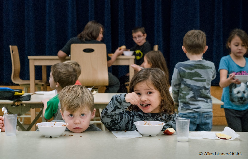 School meal at Eel Ground First Nation