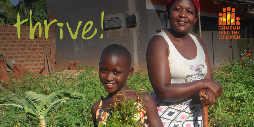 thrive magazine cover featuring smiling African girl and her mother