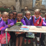 Group of smiling children in Ethiopia