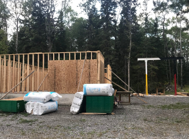 a moose hang structure and the building blocks for a butcher shop